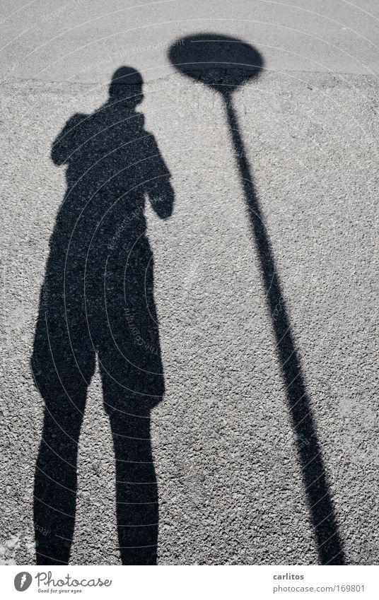 Man Shadow Calm Black Street Gray Contentment Stand Break Observe Under Male senior Take a photo Self portrait Gigantic