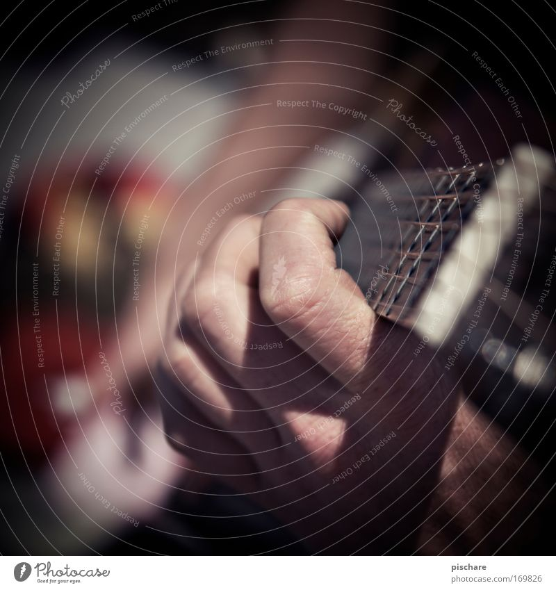 finger play Music Hand Fingers Musician Guitar Playing Retro Happiness Joie de vivre (Vitality) Relaxation pischarean Musical instrument string Colour photo