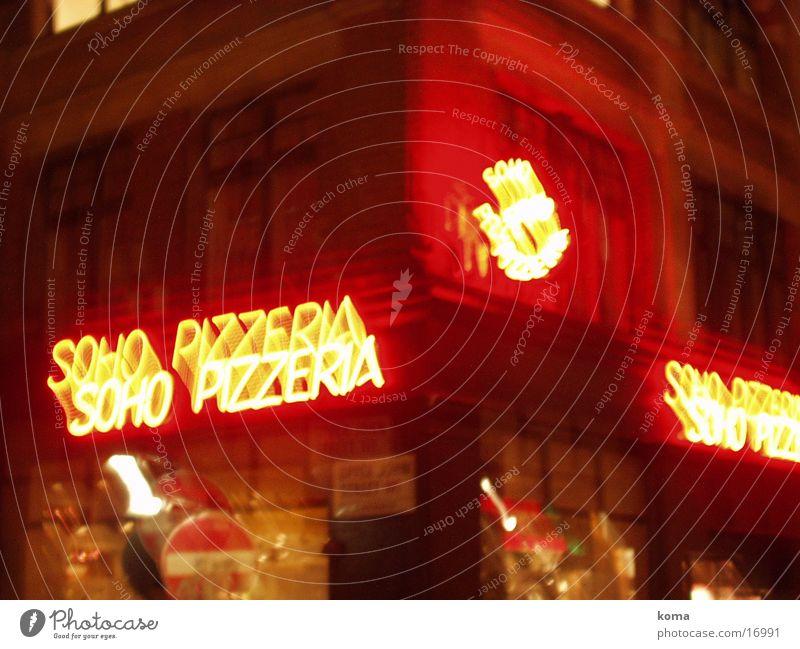 soho pizza Club London Great Britain Soho by night