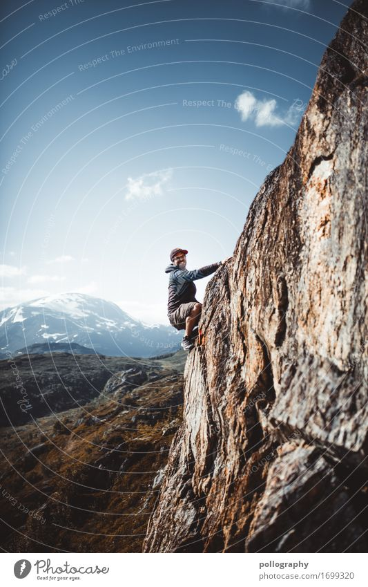 climbing Lifestyle Leisure and hobbies Vacation & Travel Tourism Trip Adventure Far-off places Freedom Mountain Climbing Mountaineering Masculine Adults Body 1
