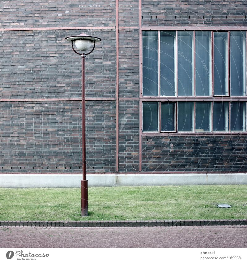 Old Lamp Wall (building) Window Wall (barrier) Facade Factory Authentic Culture Brick Lantern Industrial plant The Ruhr Industrial heritage