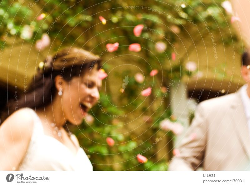 Human being Woman Man Beautiful Joy Adults Feminine Emotions Laughter Happy Couple Feasts & Celebrations Together Glittering Natural Masculine