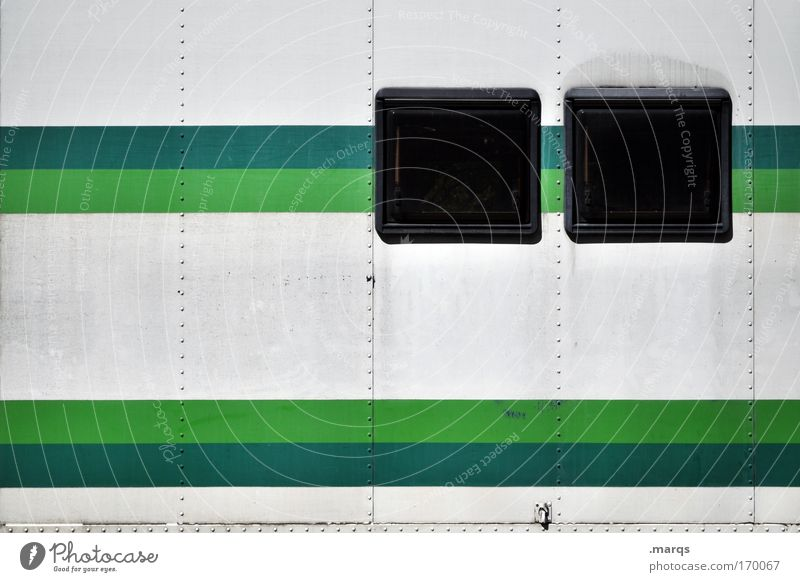 White Green Vacation & Travel Window Style Metal Line Dirty Facade Design Exceptional Stripe Uniqueness Retro Illustration Creativity