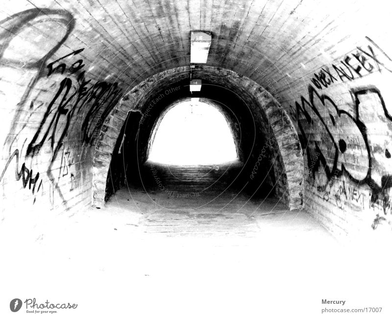 tunnel vision Tunnel Light Photographic technology Graffiti writing Death End
