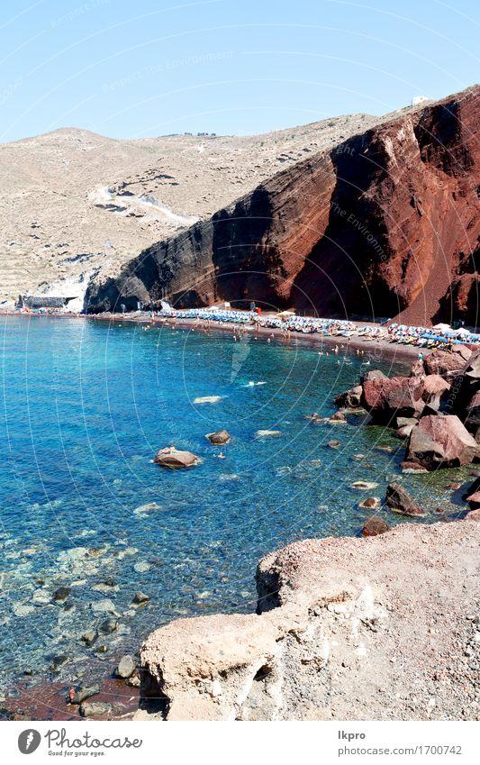 and mediterranean coastline sea red beach Beautiful Vacation & Travel Tourism Summer Sun Beach Ocean Island Mountain House (Residential Structure) Nature
