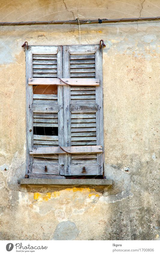 abstract wood venetian blind in the concrete brick Vacation & Travel City Old House (Residential Structure) Architecture Gray Brown Facade Tourism Dirty Europe