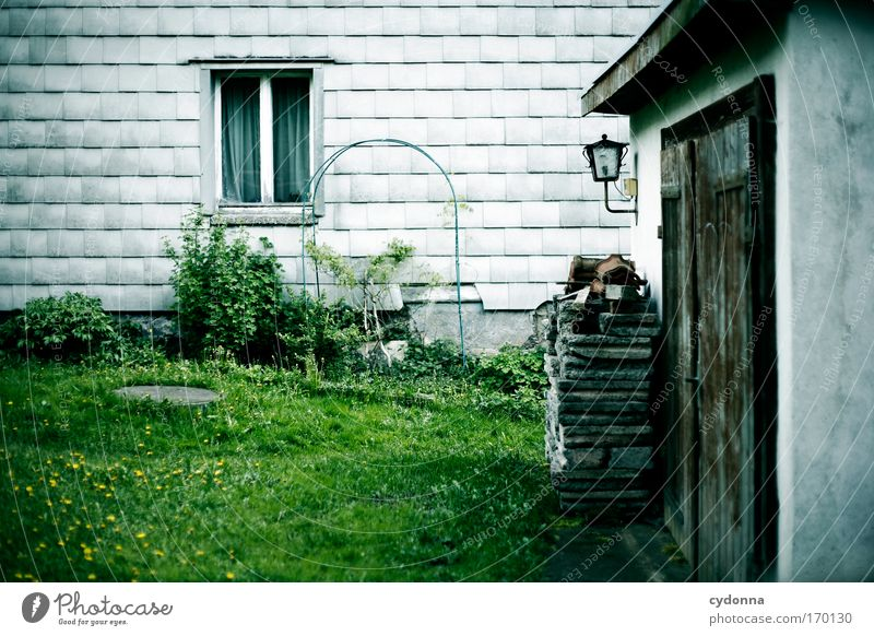 Nature Loneliness House (Residential Structure) Environment Window Life Meadow Emotions Architecture Garden Sadness Dream Time Esthetic Living or residing Future