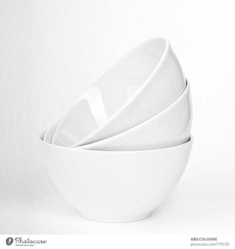 White Nutrition Bright Modern New Kitchen Clean Crockery Pottery Bowl Porcelain Desert bowl