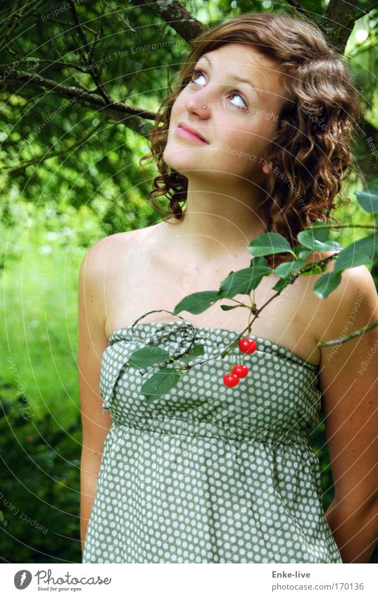 Human being Nature Youth (Young adults) Tree Beautiful Summer Feminine Hair and hairstyles Garden Think Dream Woman Healthy Elegant Wait Exceptional