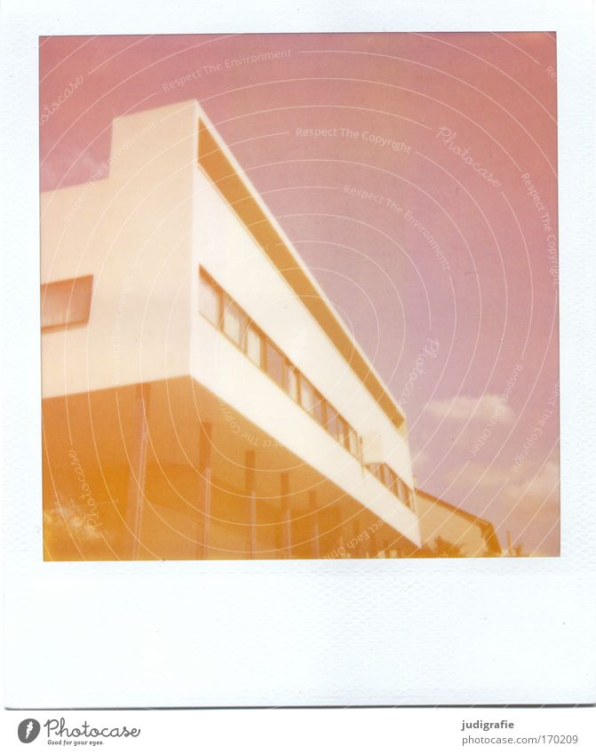 New building Colour photo Subdued colour Exterior shot Experimental Polaroid Deserted Day Design Living or residing Flat (apartment)