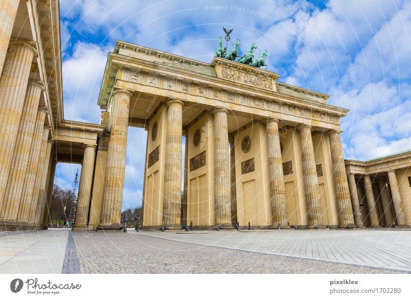 Brandenburg Gate Berlin Germany Town Capital city Downtown Places Manmade structures Building Architecture Column Tourist Attraction Landmark Monument Quadriga