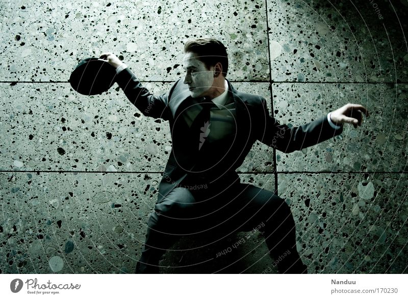 Human being Man Loneliness Calm Adults Dark Wall (building) Emotions Movement Wall (barrier) Style Art Moody Dance Elegant Masculine