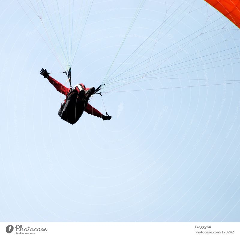Sky Man Joy Adults Mountain Movement Air Contentment Masculine Cool (slang) Beautiful weather Brave Addiction Pilot Aircraft Upward
