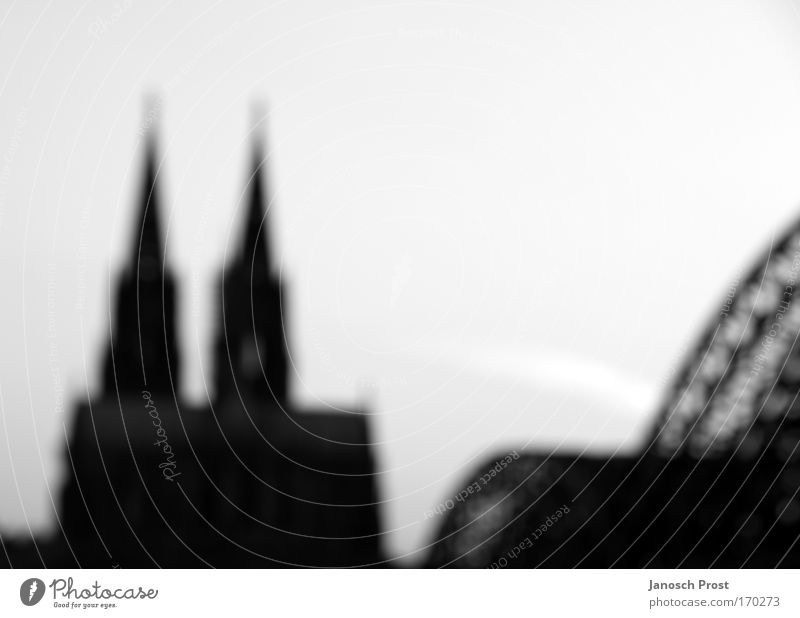 White City Calm Black Religion and faith Architecture Germany Large Europe Bridge Church Cologne Manmade structures Landmark Belief