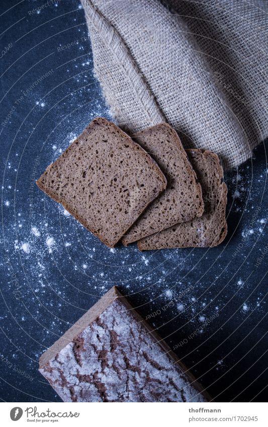 baker's bread Sandwich Bütterken Bread Brunch Flour Wood Wooden board Subsoil Dark Studio shot Nutrition Healthy Healthy Eating Food Dish Food photograph
