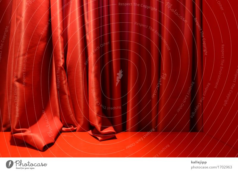 Now what? Art Theatre Stage Puppet theater Culture Event Shows Red Drape Wrinkle Fame Famousness Image (representation) Actor Colour photo Interior shot