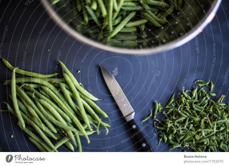 Craft | Food technology Vegetable Nutrition Eating Lunch Crockery Knives Healthy Healthy Eating Fitness Workplace Kitchen Agricultural crop Beans Shopping Gray