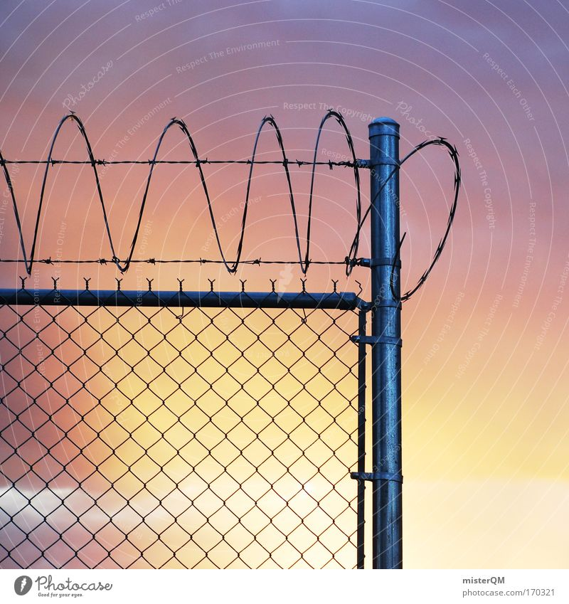 Sky Loneliness Dark Freedom Metal Threat Protection Fence Barrier Storage Captured Grating Penitentiary Justice Court building