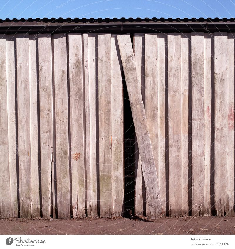 One Out Of Place Old Blue White Wall (building) Wood Building Wall (barrier) Esthetic Manmade structures Mysterious Escape Claustrophobia Redecorate