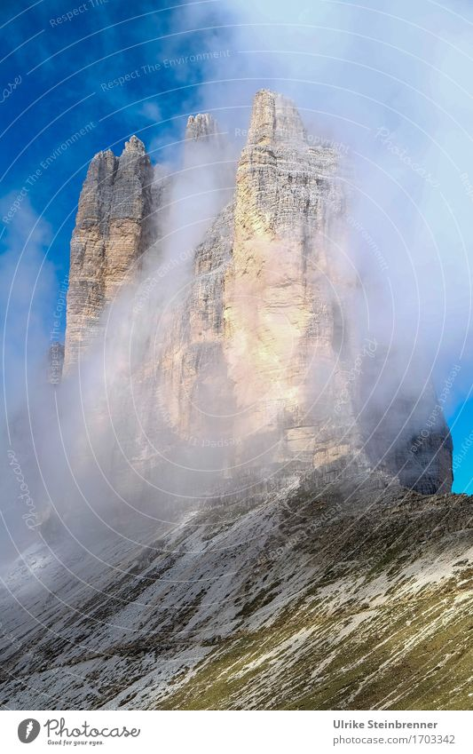 Three Peaks 3 Vacation & Travel Tourism Trip Adventure Summer vacation Mountain Hiking Environment Nature Landscape Elements Air Drops of water Sky Clouds