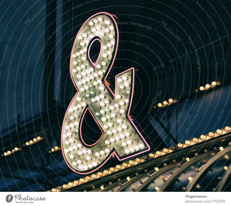 Las Vegas Lights [8] Neon sign Advertising Illuminated letter Lightbox Lamp Play of colours Electric bulb Lighting Radiation Neon light Party Night
