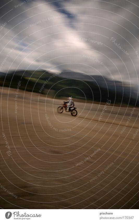 gaaaaaaaaaaaaaaaaaas!!! Colour photo Exterior shot Experimental Copy Space top Copy Space bottom Day Contrast Motion blur Wide angle Motorsports Motocross bike
