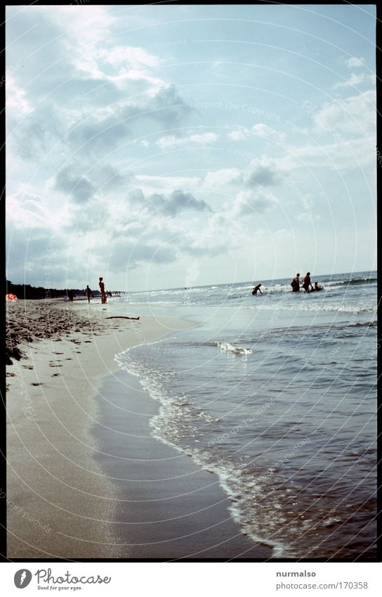 eastwestern view Colour photo Copy Space bottom Day Joy Leisure and hobbies Vacation & Travel Tourism Summer vacation Sunbathing Beach Ocean Human being Child