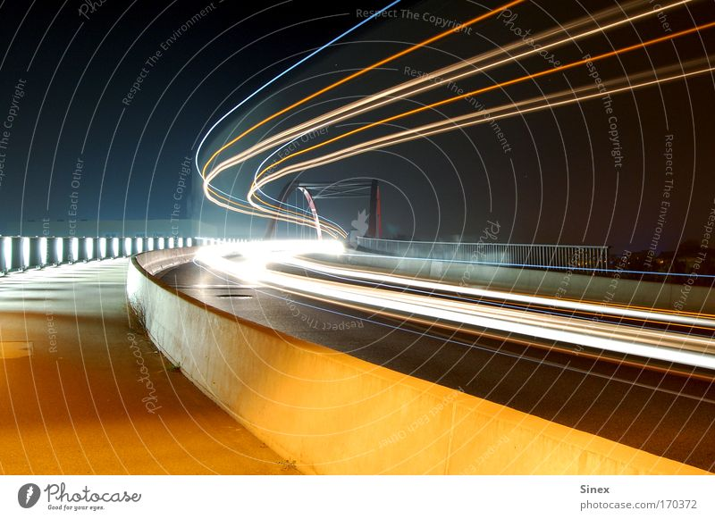 Style Light Lighting Free Transport Crazy Bridge Night Cool (slang) Tracks Illuminate Traffic infrastructure Tracer path