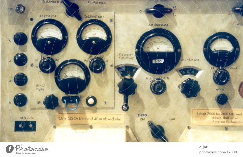 control panel Control desk Historic Games console Rotary switch Telecommunications Radio (broadcasting) Display