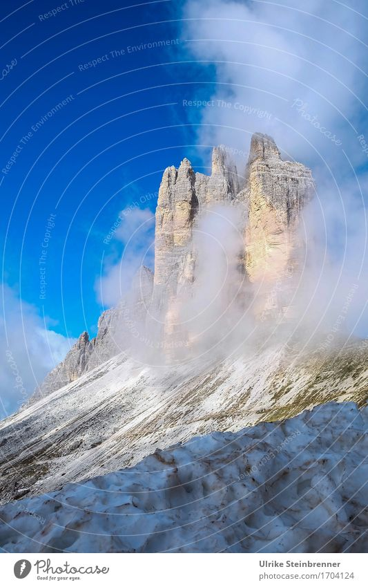 Three Peaks South Wall 2 Vacation & Travel Tourism Trip Adventure Summer Summer vacation Mountain Hiking Environment Nature Landscape Air Drops of water Sky