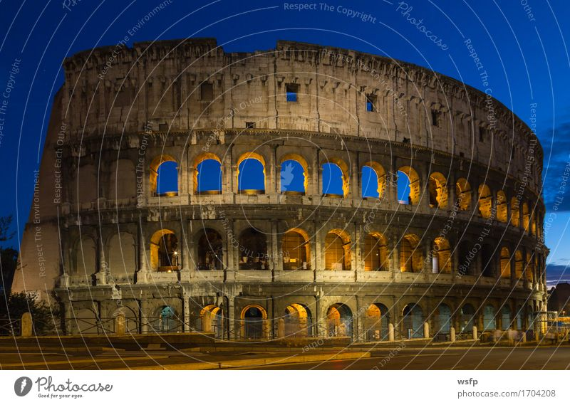 Colosseum at night in Rome Tourism Castle Architecture Historic Lighting Amphitheatrum Flavium Amphitheatrum Novum Amphitheatre Lock History of the Italy travel
