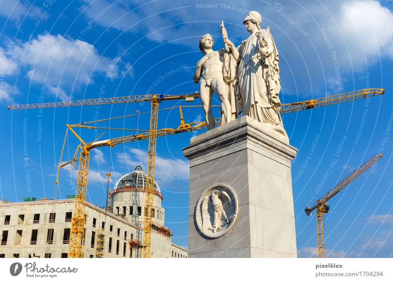 City Old Architecture Berlin Building Art Germany Culture Concrete Planning Construction site Historic New Manmade structures Castle Capital city