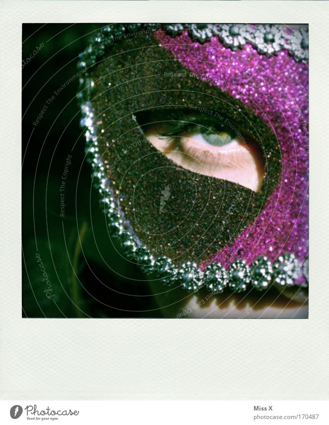 mask Colour photo Multicoloured Interior shot Detail Looking into the camera Feasts & Celebrations Hallowe'en 1 Human being Actor Dance Event Opera Accessory