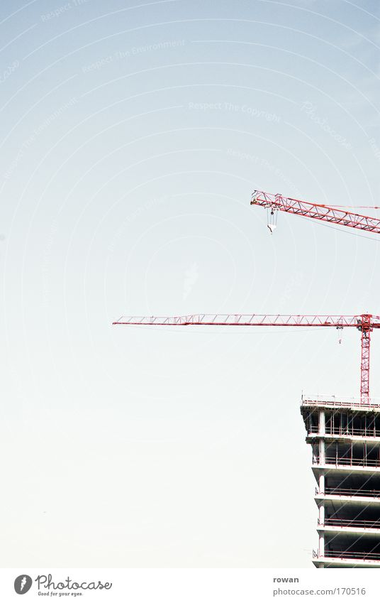 construction-stop Colour photo Deserted Copy Space left Copy Space top Copy Space bottom Neutral Background Day High-rise Manmade structures Building