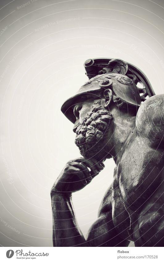 Man Old Loneliness Adults Think Art Success Esthetic Threat Meditative Deities Chest Monument Statue War Landmark