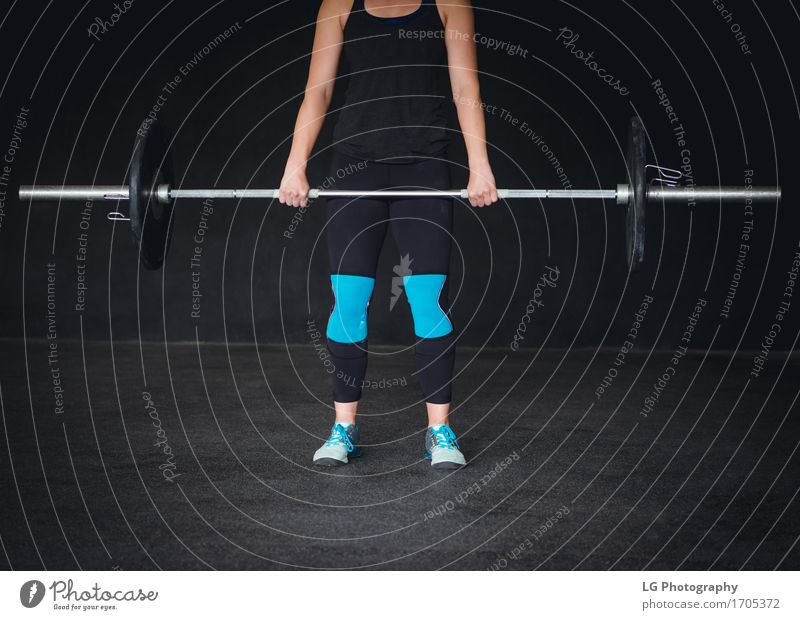 Cropped image of a crossfit woman working out. Body Sports Woman Adults Hand Feet Fashion Clothing Fitness Stand Strong Black Power athlete athletic bar