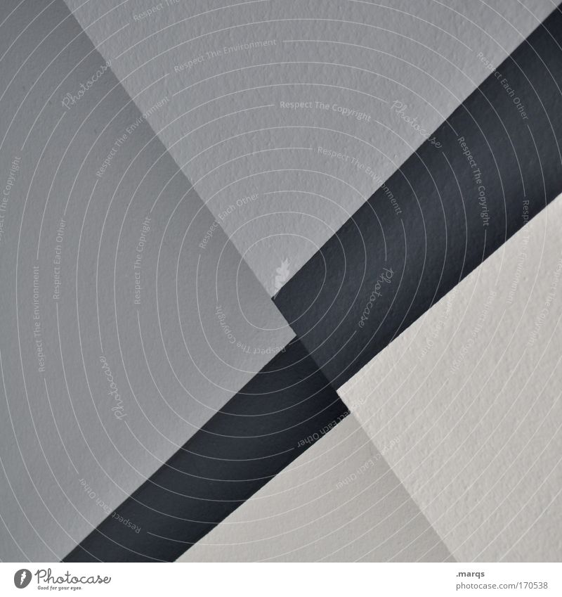 ascending Black & white photo Interior shot Abstract Elegant Style Design Building Architecture Wall (barrier) Wall (building) Line Stripe Sharp-edged Simple