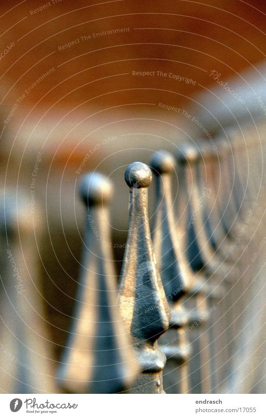 one of many Fence Border Iron Closed Smithy Connectedness Steel Photographic technology Row Metal Structures and shapes Deep Sphere
