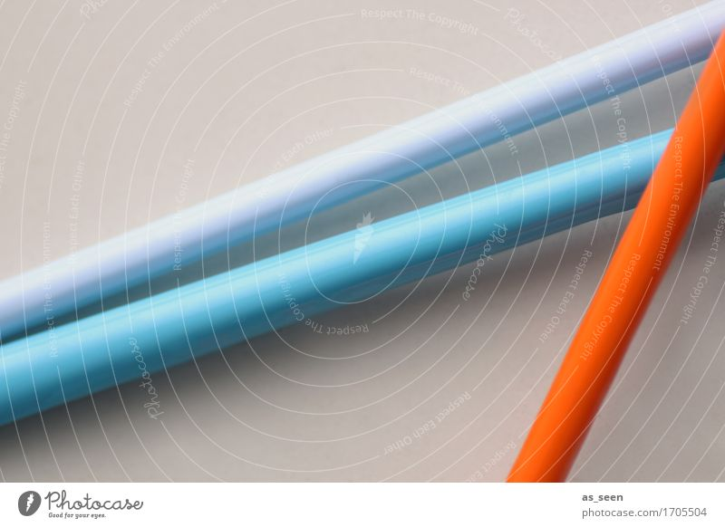 composition Lifestyle Art Work of art Sculpture Lanes & trails Road junction Decoration Plastic Lie Esthetic Bright Hip & trendy Modern Blue Orange Movement