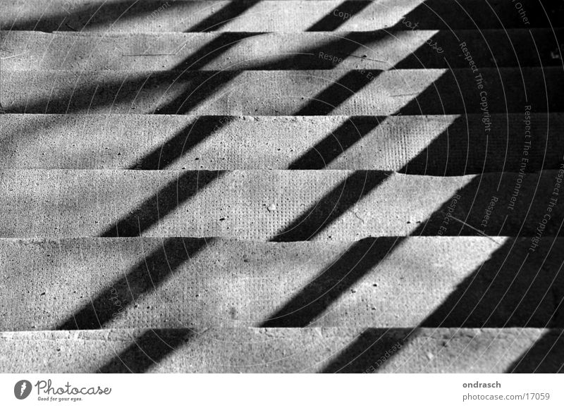 City Dark Bright Concrete Stairs Corner Upward Downward Visual spectacle Checkered Photographic technology