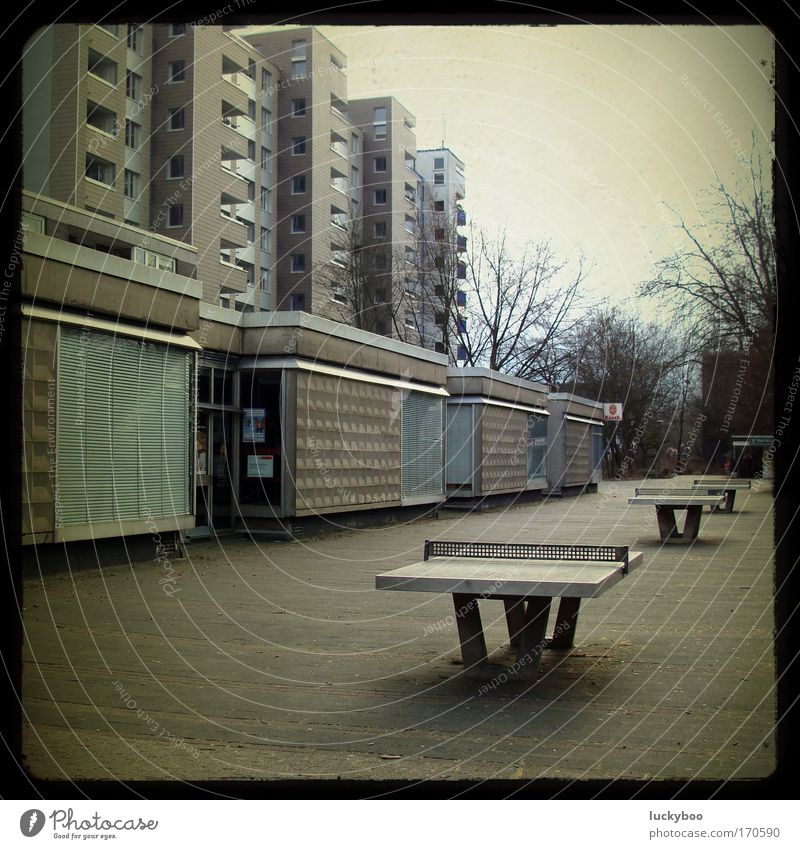 City House (Residential Structure) Loneliness Dark Cold Gray Building Flat (apartment) Poverty Concrete High-rise Places Retro Gloomy Living or residing