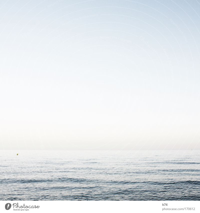 buoy Colour photo Subdued colour Exterior shot Day daylight Landscape Water Sky Ocean Free Glittering Bright Beautiful Freedom Horizon Cold Calm Environment