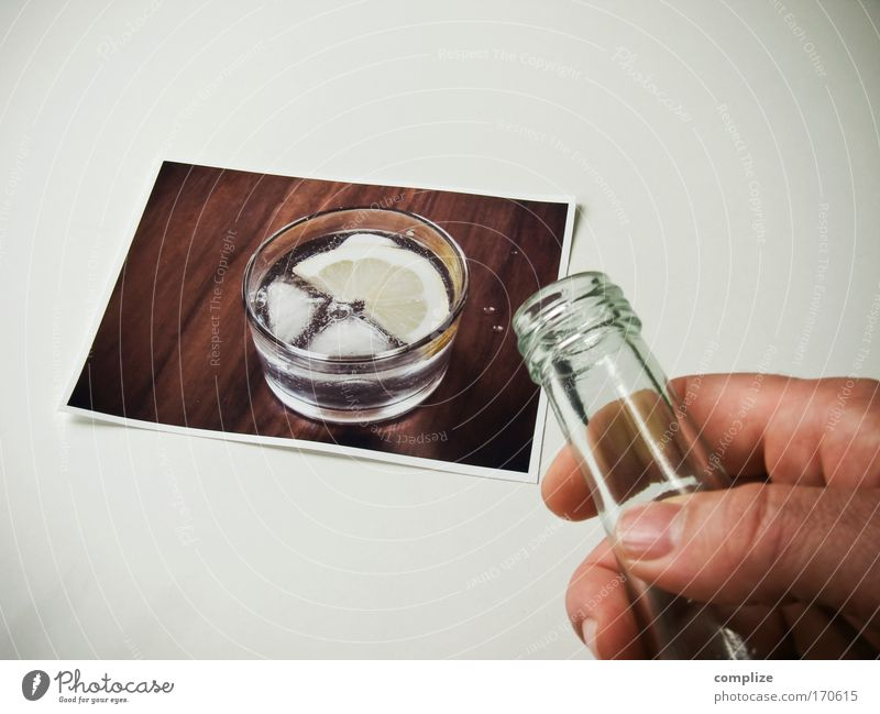 refreshment Colour photo Subdued colour Beverage Drinking Cold drink Drinking water Glass Healthy Hand 1 Human being Mineral water Fresh Tumbler Men`s hand