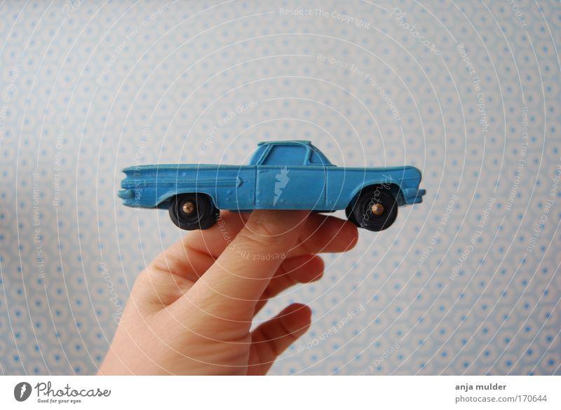 blue car Car Toys Plastic Simple Retro Blue Joie de vivre (Vitality) Colour photo Deserted Day