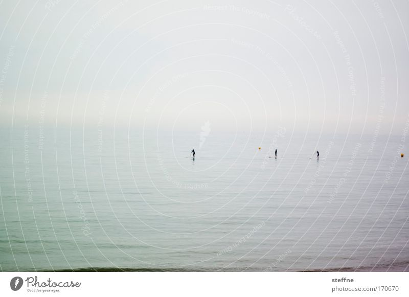 Ocean Calm Relaxation Emotions Happy Sadness Moody Fog Serene Discover Breathe Baltic Sea North Sea Patient Paddling Boating trip