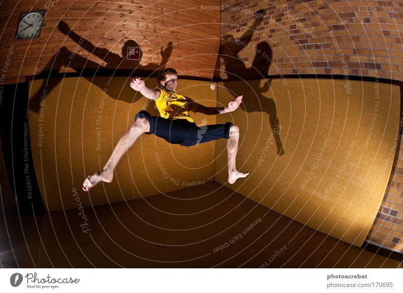 Matrix Spiderman Colour photo Flash photo Light Shadow Fisheye Lifestyle Elegant Style Joy Sports Kick spin acrobatic Capoeira Parkour Gymnasium Movement
