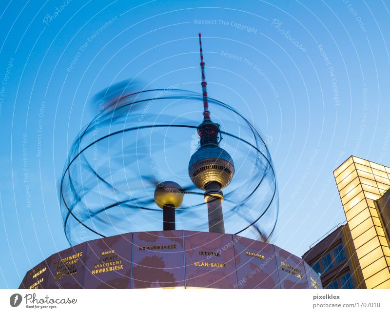 Vacation & Travel City Architecture Movement Berlin Time Germany Tourism Clock Technology Retro Round Tower Universe Manmade structures Capital city
