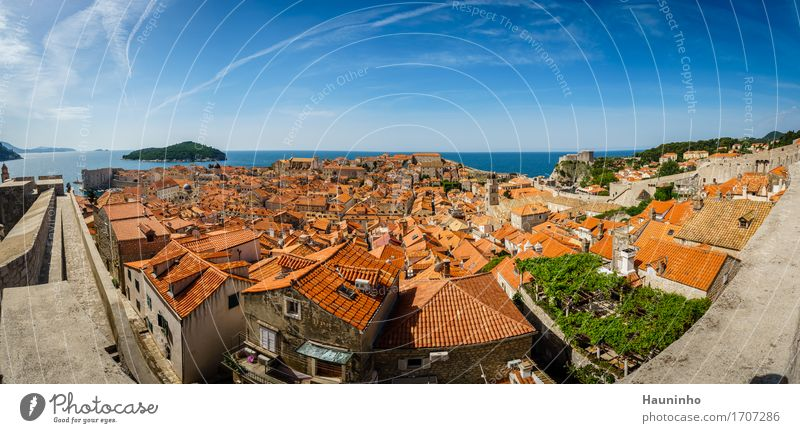 Dubrovnik XV Vacation & Travel Sightseeing City trip Sky Summer Beautiful weather Plant Ocean Island Croatia Small Town Port City Downtown Old town