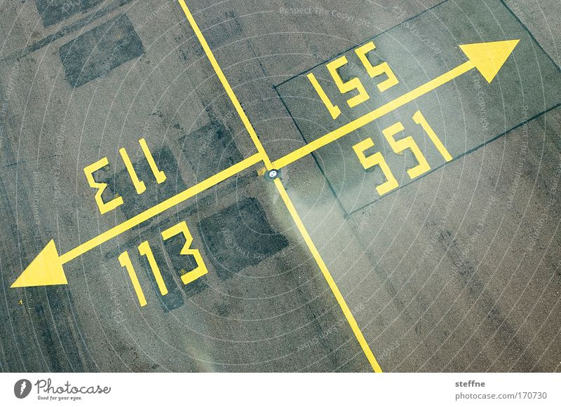 The official Zählfred logo Colour photo Exterior shot Abstract Deserted Aviation Airport Runway Digits and numbers Signs and labeling Signage Warning sign Line