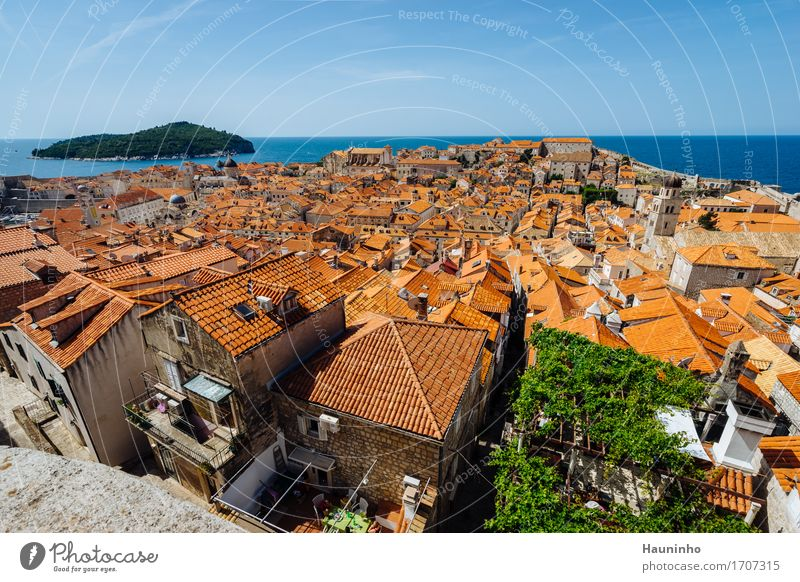 Dubrovnik Xll Vacation & Travel Tourism Sightseeing Ocean Island Summer Beautiful weather Croatia Town Port City Old town House (Residential Structure) Church